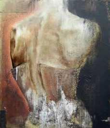 Boudoir, acrylique et huile sur toile, 120 x 100 cm.