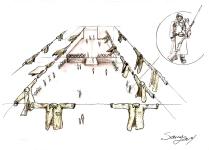 scenography - chemises suspendu- 2014
