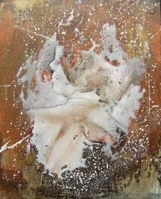 """""""Comme une image"""" Acrylique, huile et brou de noix sur toile, 40 x 50 cm. 2011"""