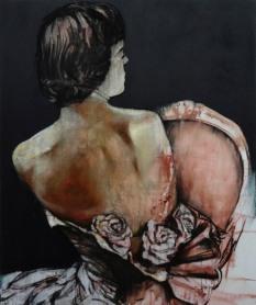 """""""Comme une image"""" Acrylique, huile et sable sur toile, 120 x 100 cm. 2011"""