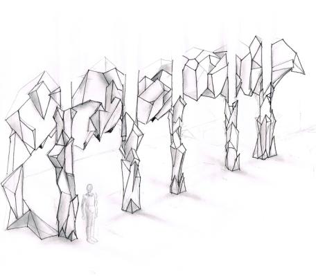Illustration decor-video-projection-