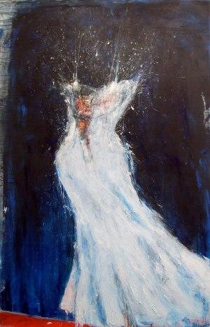 """""""Nightingale"""", Acrylique sur toile, 210 x 130 cm. 2010"""