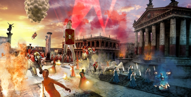 Illustration of outside Parade, Cinecitta, Roma