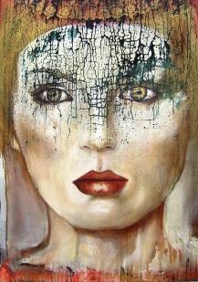 """""""The Queen"""" acrylique et huile sur toile, 100 x 80 cm. 2011"""