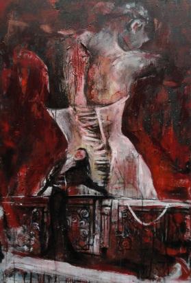 """""""Présence"""" Acrylique et huile sur toile, 80 x 120 cm. 2011"""