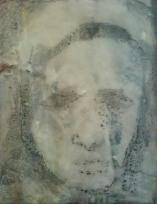 oil, wax on canvas, 20 x 10 cm. 2010