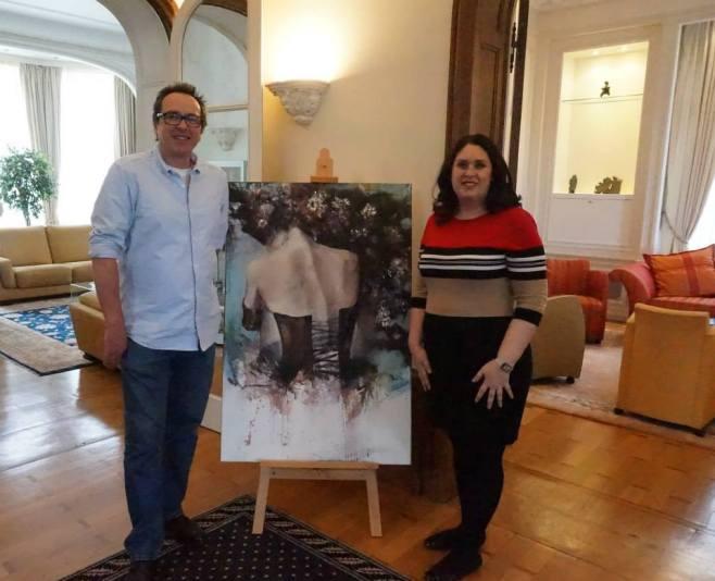 Mme Caroline Emond et Michel Soucy Junior