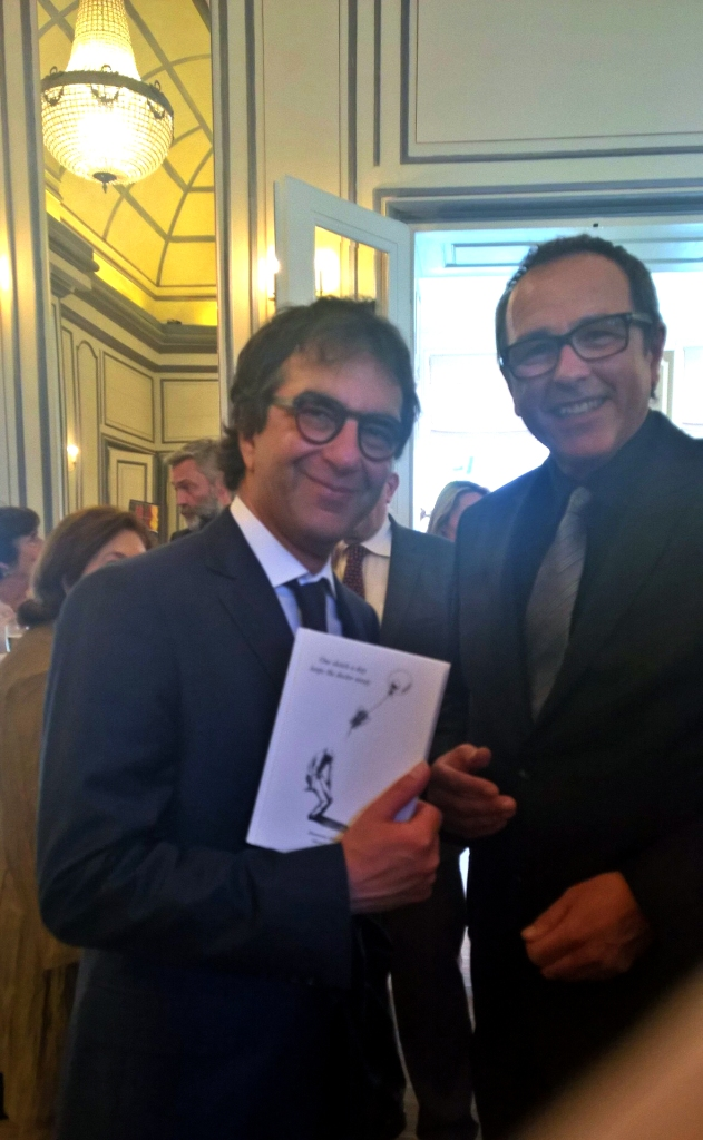 Atom Egoyan and Michel Soucy Jr. In Brussels