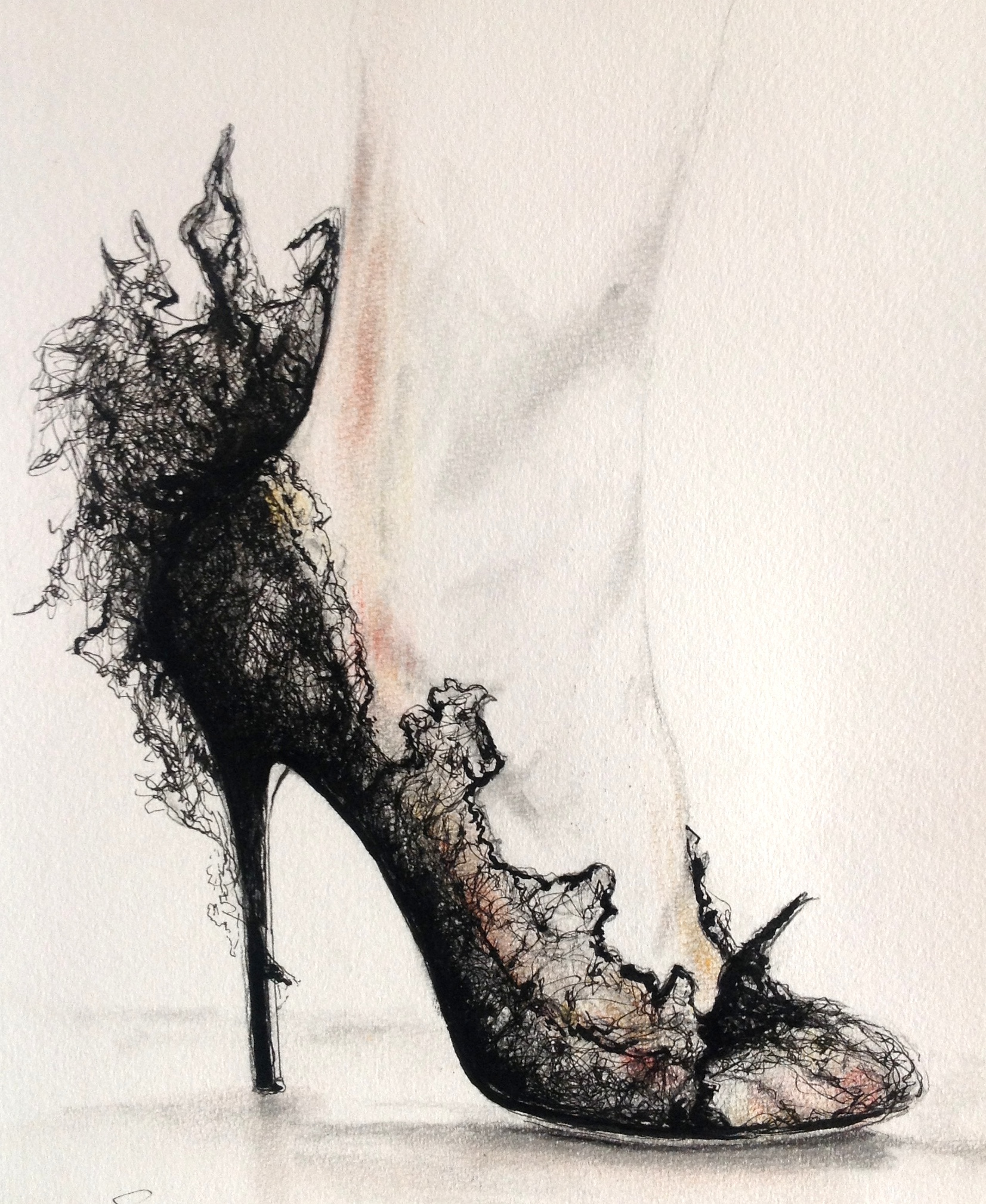 Perfect Shoes Drawing Designs Wedding - Inofashionstyle.com