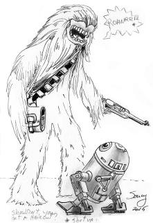 R2-D2 vs Choubaka