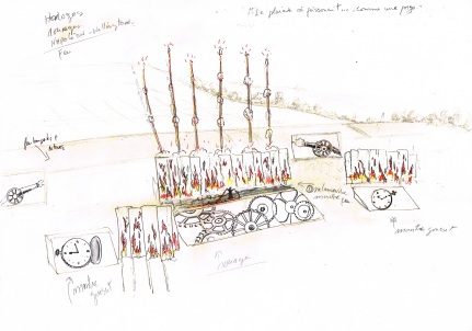First sketch of Waterloo Battle Inferno