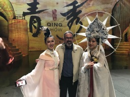 Michel Soucy with actress of Qing Show_Costume_2019